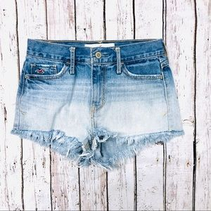 Hollister | ombré high wasted cut off shorts 0|24